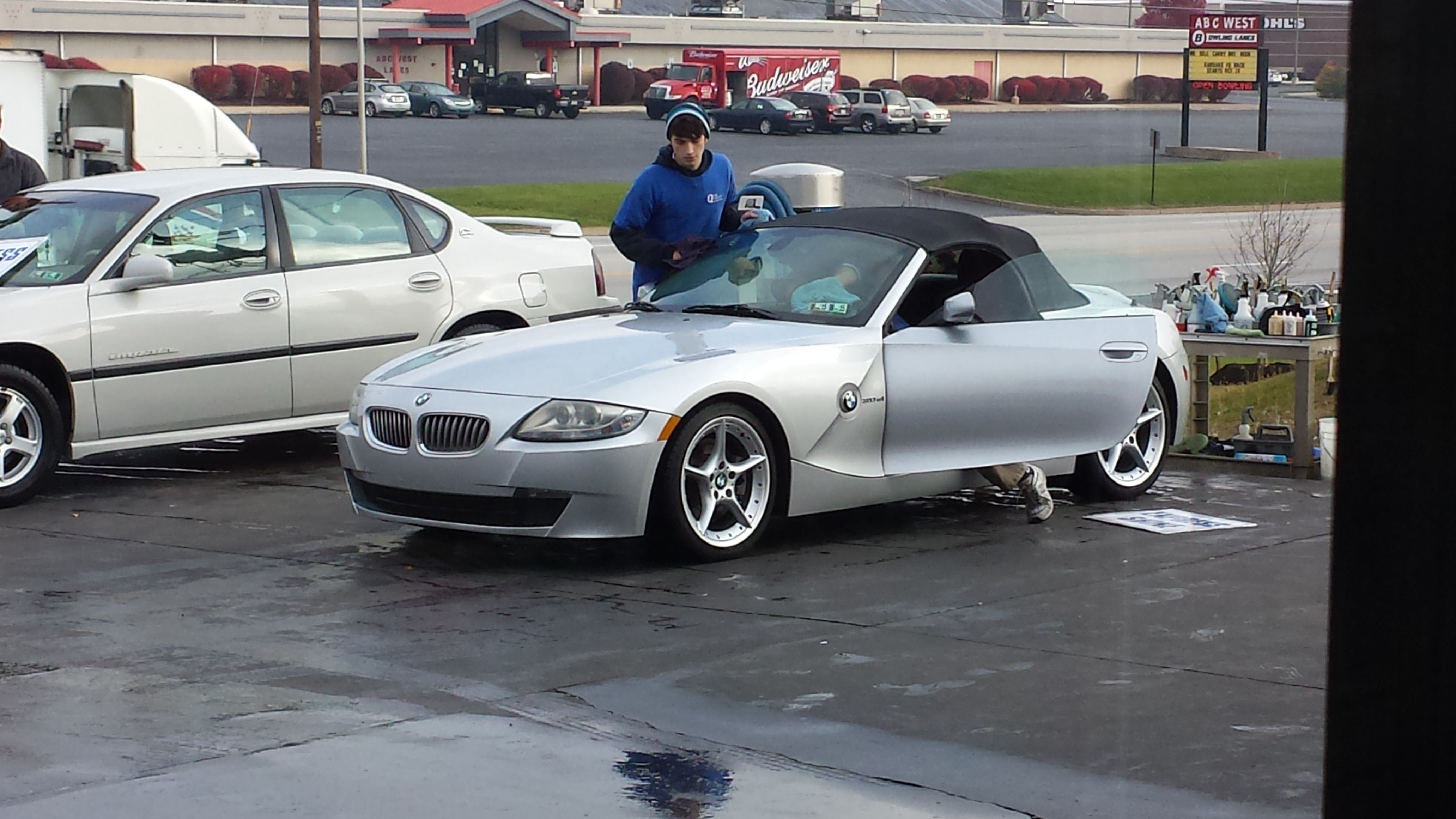 Free car wash on Veterans Day for vets. Bmw z4, Bmw