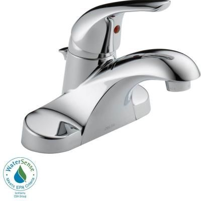 Delta Foundations 4 in. Centerset 1-Handle Low Arc Bathroom Faucet in Chrome-B510LF-PPU at The Home Depot