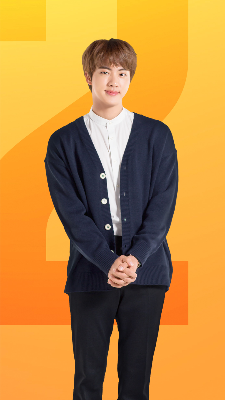 """Photo of BTS WORLD """"Compliments Please"""" 2 star Jin card"""