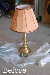 Brass Lamp Redo The Pinterest Project Lamp Redo Brass Lamp Recover Lamp Shades