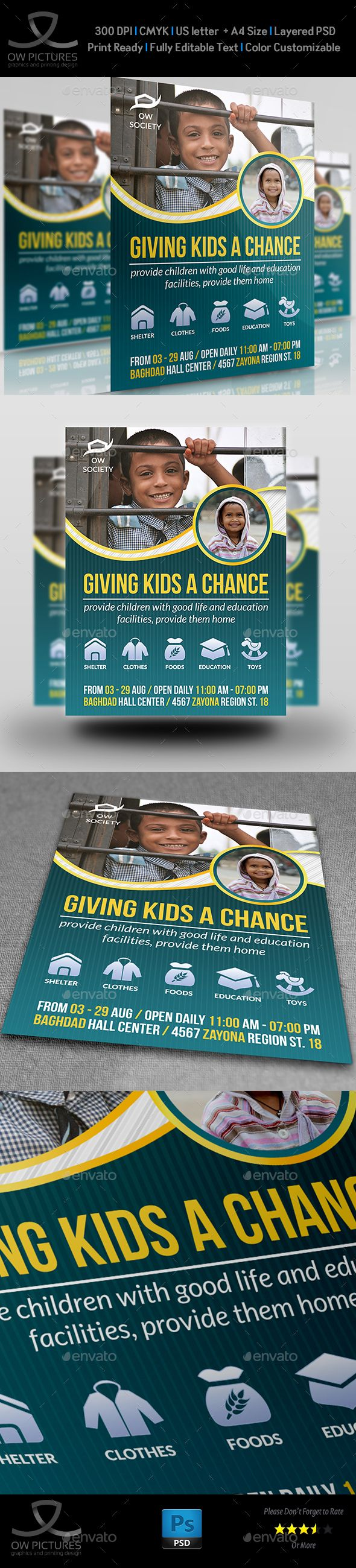 Kids Charity Flyer Template  Kids Charity Flyer Template And