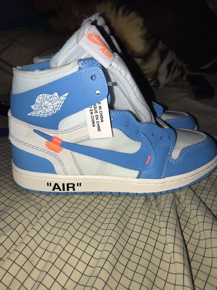 New Air Jordan 1 X Off White Nrg Unc 9 Mens Fashion Clothing