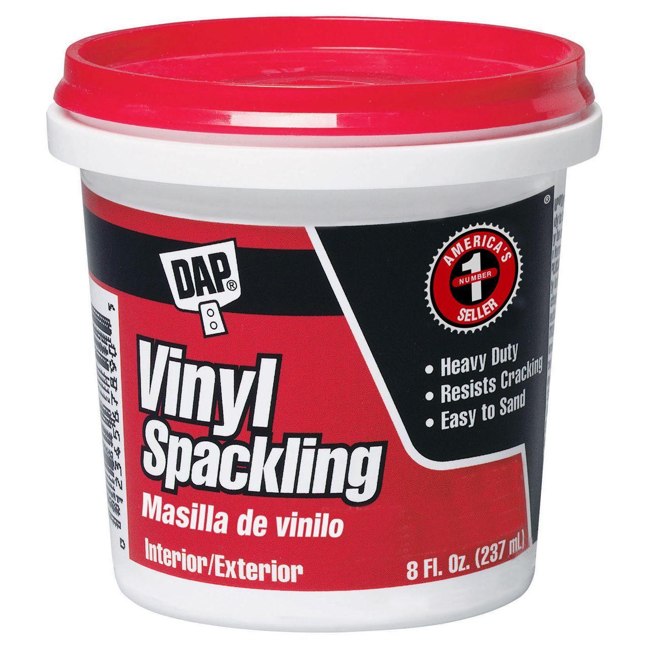 Dap 12130 1 2 Pint Vinyl Spackling Compound Interior Products Drywall White Vinyl Und Used Vinyl
