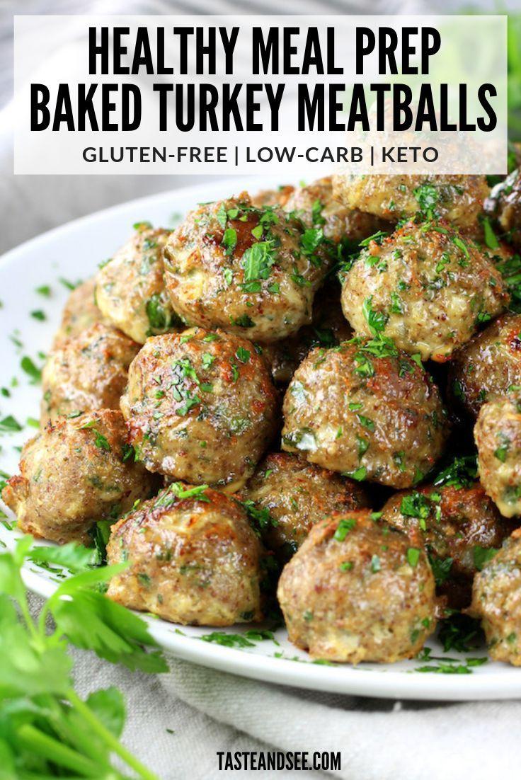 Healthy Meal Prep Baked Turkey Meatballs | Taste And See