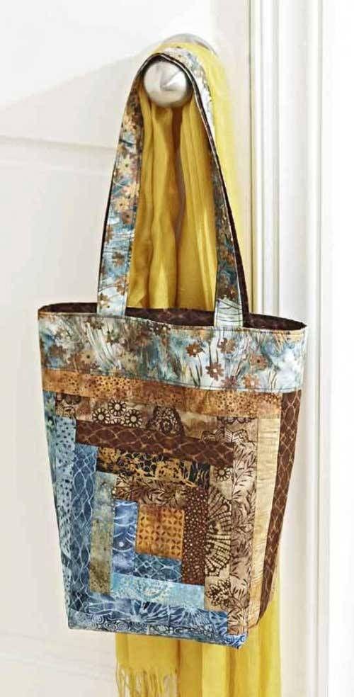 Log Cabin Tote Bag - Free Sewing Tutorial | Nähen