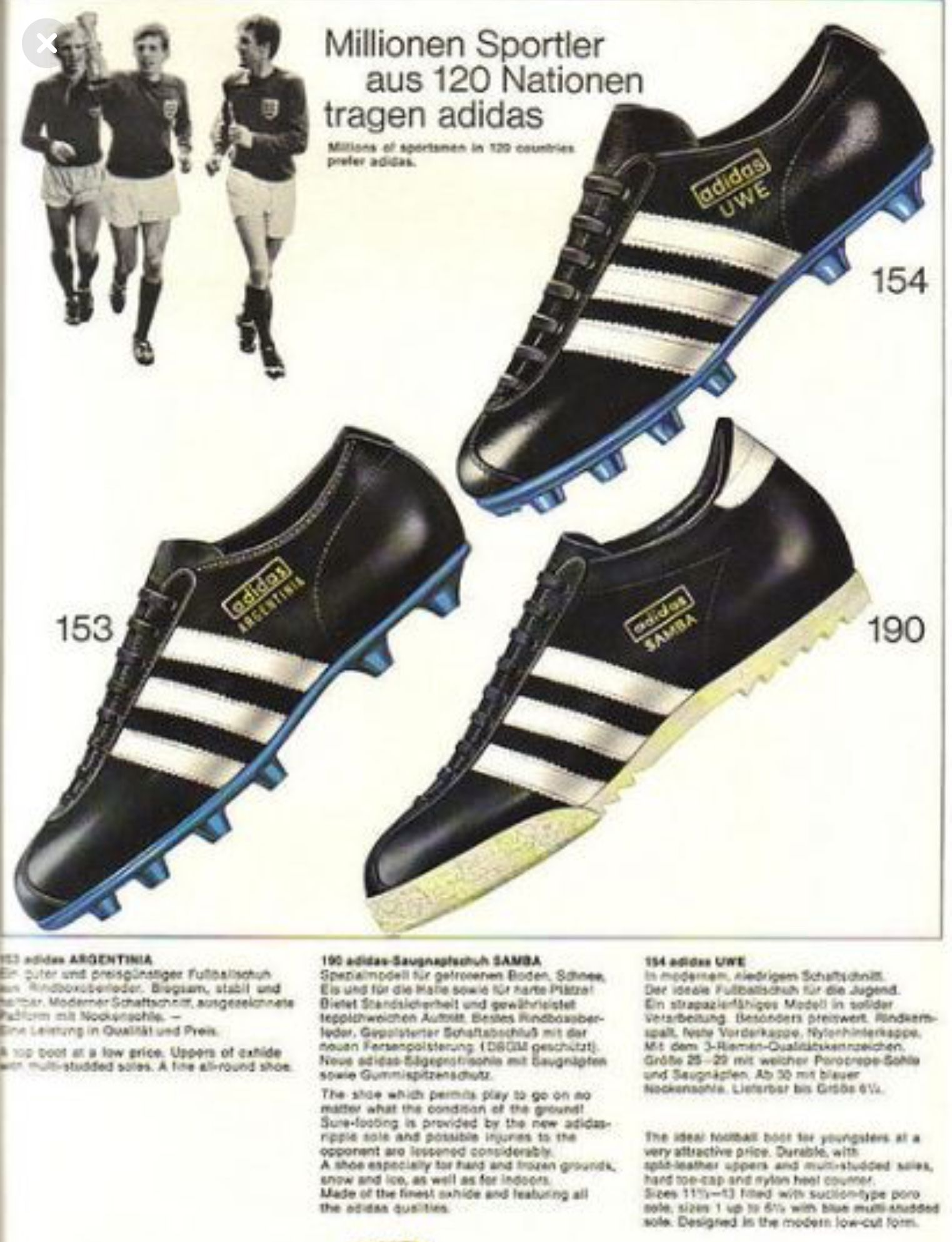 Pin by Wingback's Attic™ on Vintage Soccer Shoes | Adidas