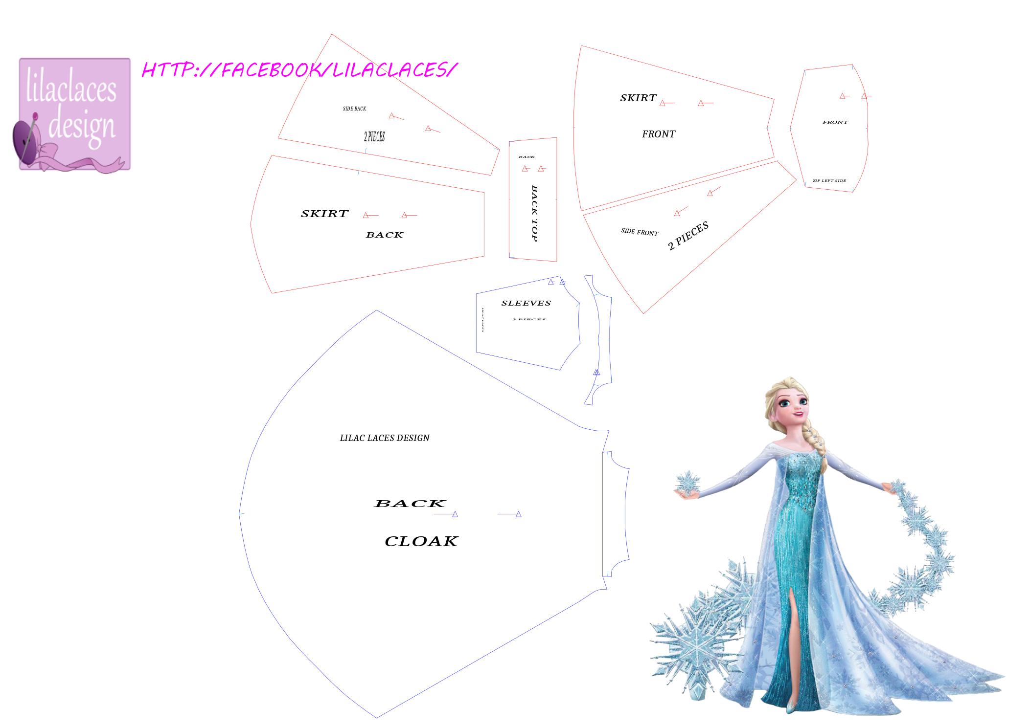Elsa pattern sewing | Công chúa | Pinterest | Costura, Patrones y ...