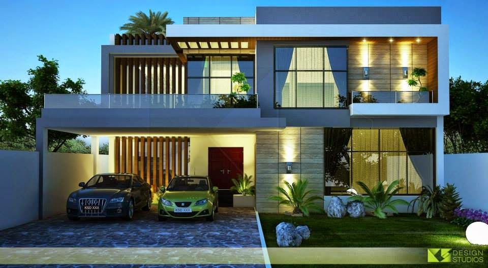 One kanal house 3d front design blog