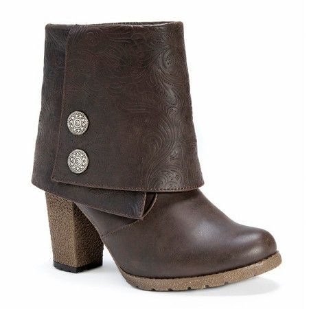 Women's MUK LUKS® Chris Button Detail Ankle Boots : Target