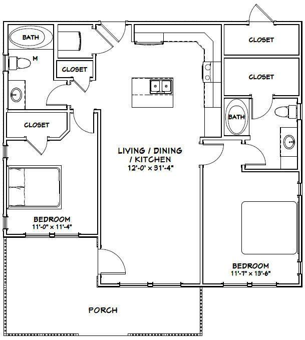 Excellent Floor Plans — #36X32H1 $29.99...