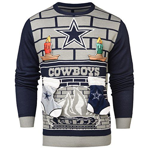 NFL Dallas Cowboys Ugly 3D Sweater Large ** Click on the image for ...