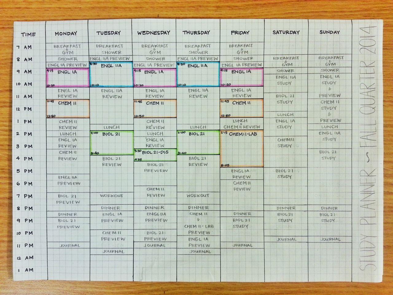 Let's Struggle Together — Updated study schedule