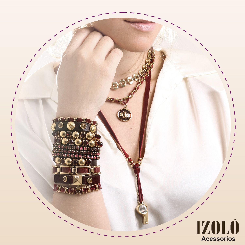 Cor do inverno: Burgundy!  #pulseiras #pulseirismo #colar #colares #inlove #acessórios #winter