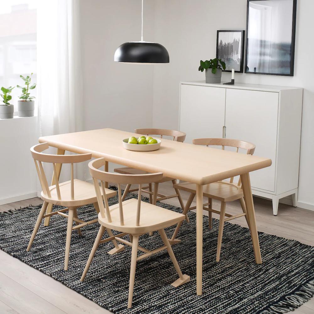 "Mobili Bassi Cucina Ikea markerad table - beech, birch 66 7/8x29 1/2 "" in 2020 (with"