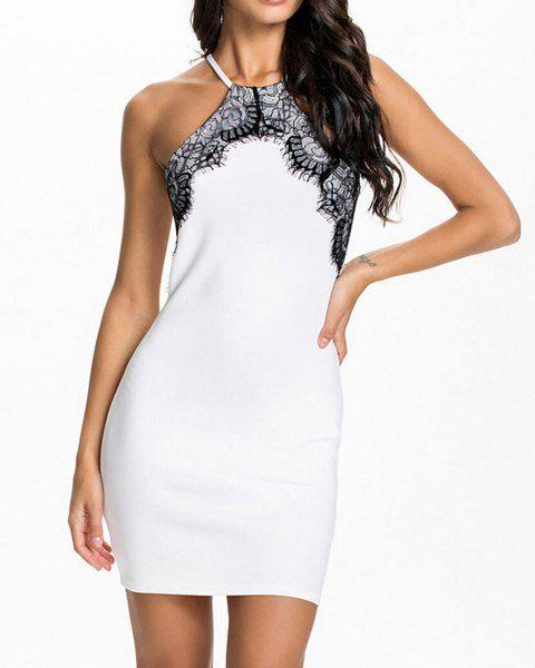White Halter Lace