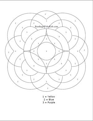 Color By Number Letter O Coloring Pages Mandala Coloring Pages Flower Coloring Pages