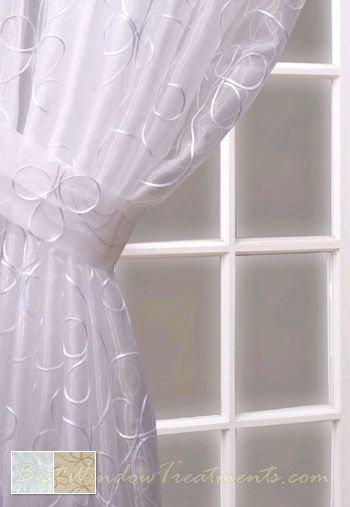 Lasandra 63 Chocolate Sheer Curtain Panel Bestwindowtreatments