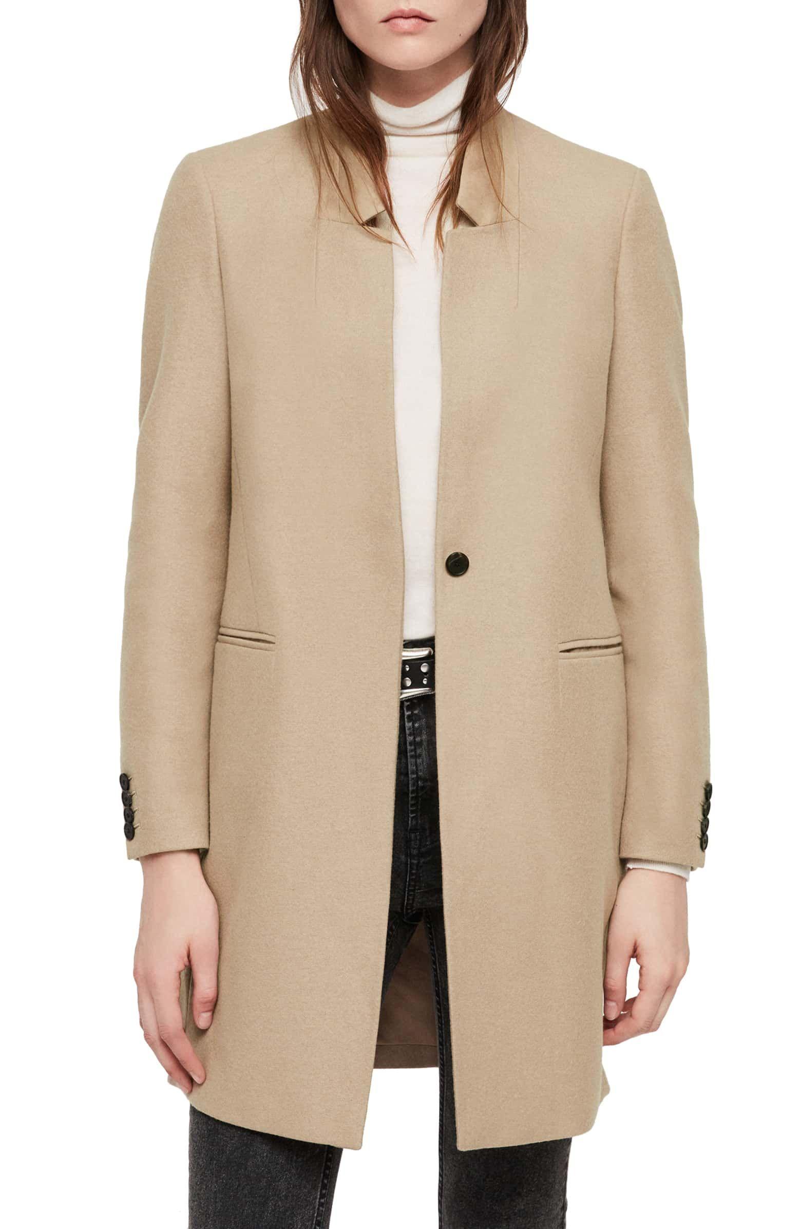 Allsaints Lyla Wool Blend Coat Nordstrom Blazer Outfits For Women Coat Collared Coat [ 2392 x 1560 Pixel ]