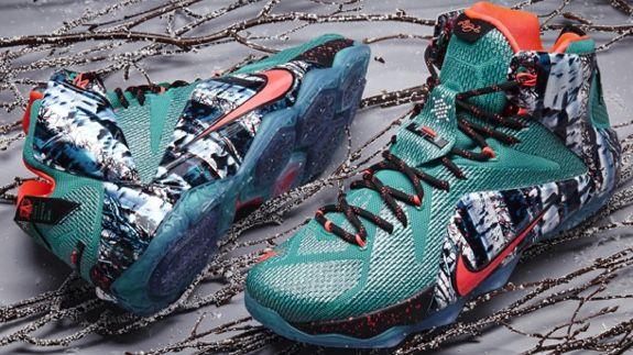 61775400d335 Nike LeBron 12  Akron Birch
