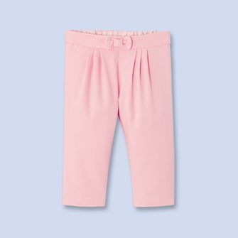 Pantalon en coton natté - Fille - ROSE BLUSH - Jacadi Paris