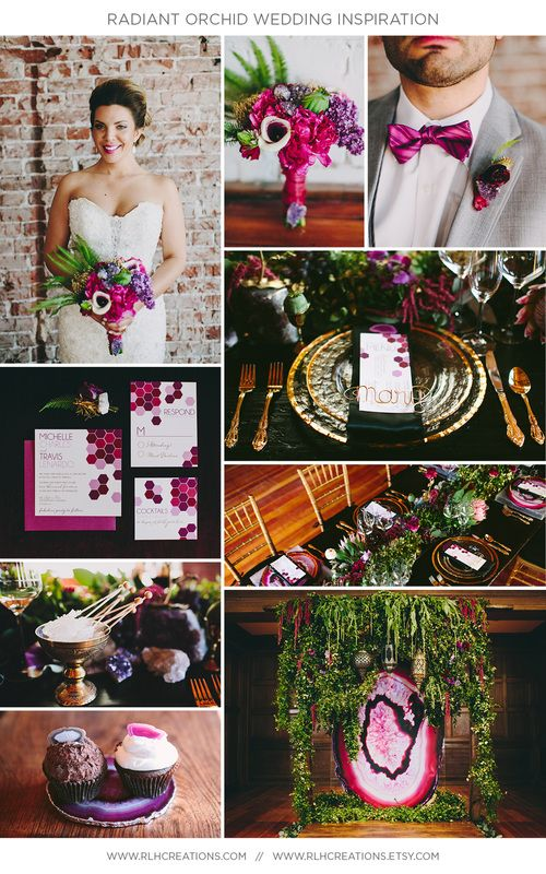 10 Home Interior Ideas In Radiant Orchid: Radiant Orchid Wedding Inspiration Board Via Www.rlhcreations.com (With Images)