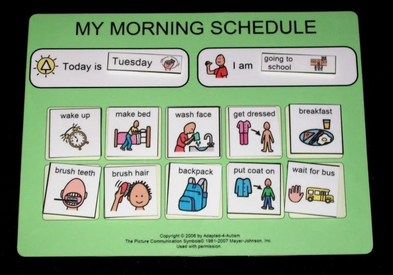 Calendar Organization Rules : School morning daily schedule routine adhd organization