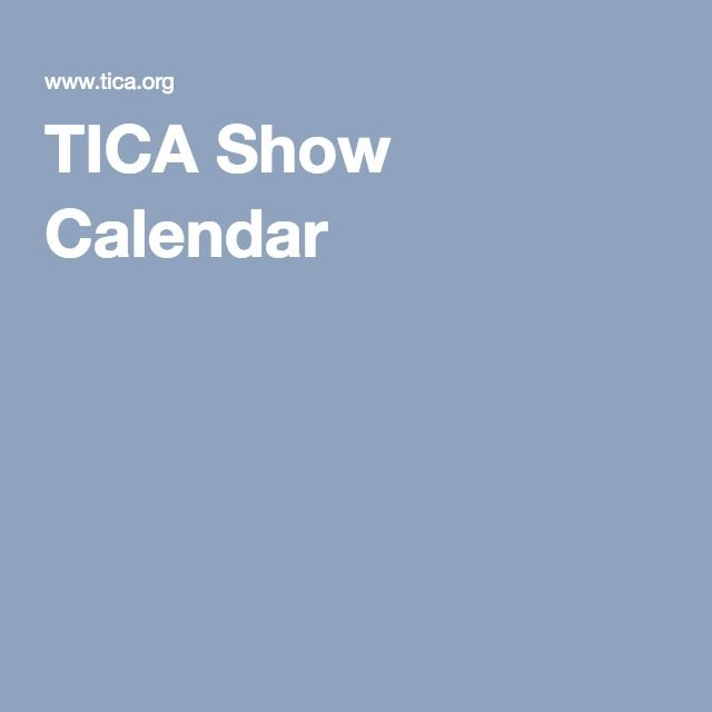 Tica calendar