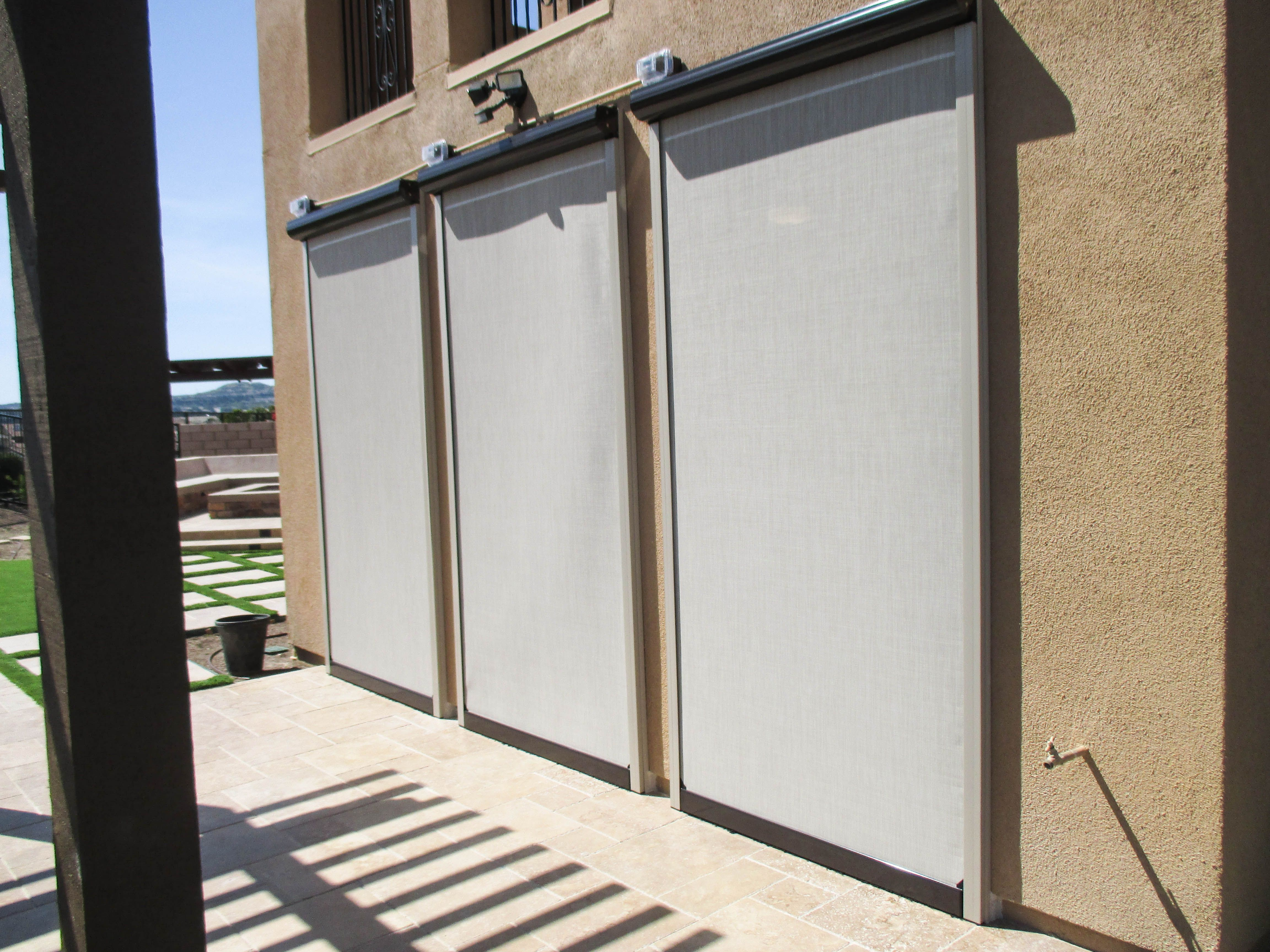 We install custom Motorized Power Screens on California rooms ... on signs and more, blinds and more, kitchen cabinets and more, painting and more, air conditioning and more,