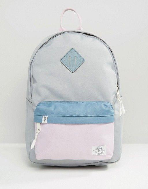 Parkland Bayside Hopscotch Backpack   Pale Blue, Denim Blue, Pale Pink   ASOS