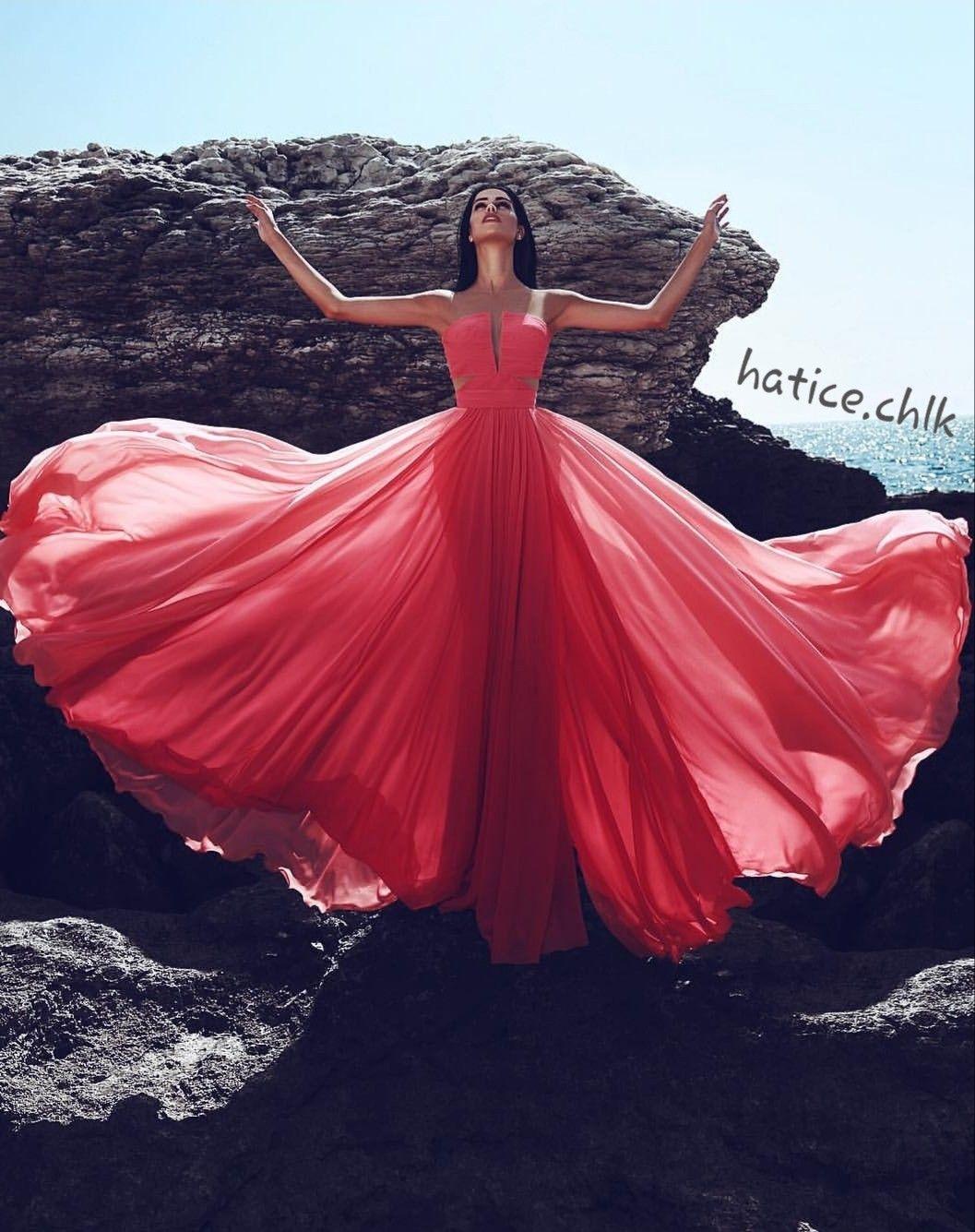 Chiffon abendkleider-Bild von d h auf Kleider  Rote abtanzkleider