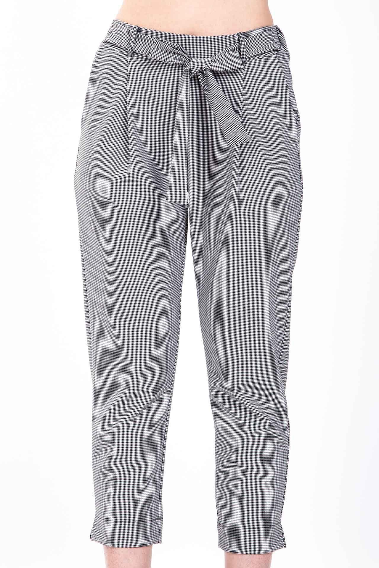 Pantalone morbido con fiocco - nero - pied de poule  208910fb078a