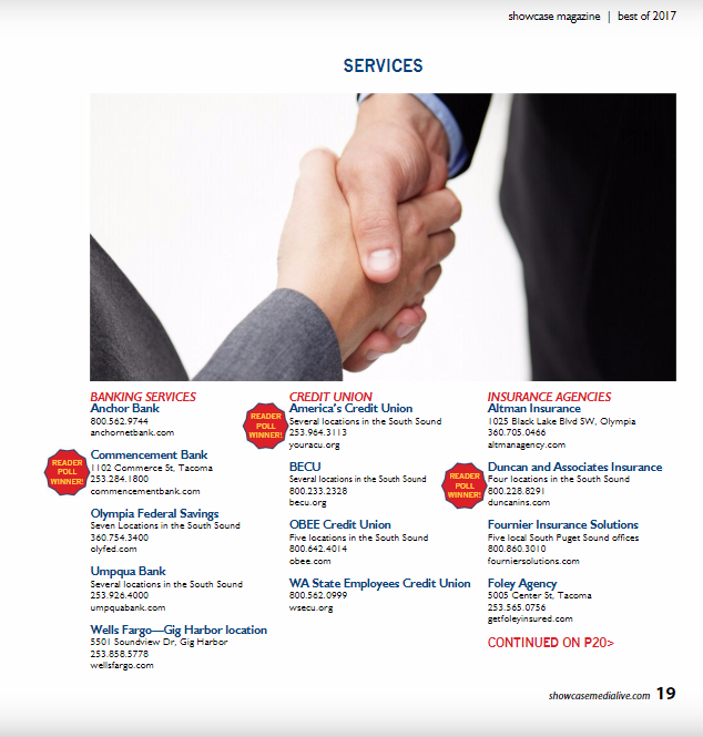 Showcase Magazine Best Of 2017 Home Insurance