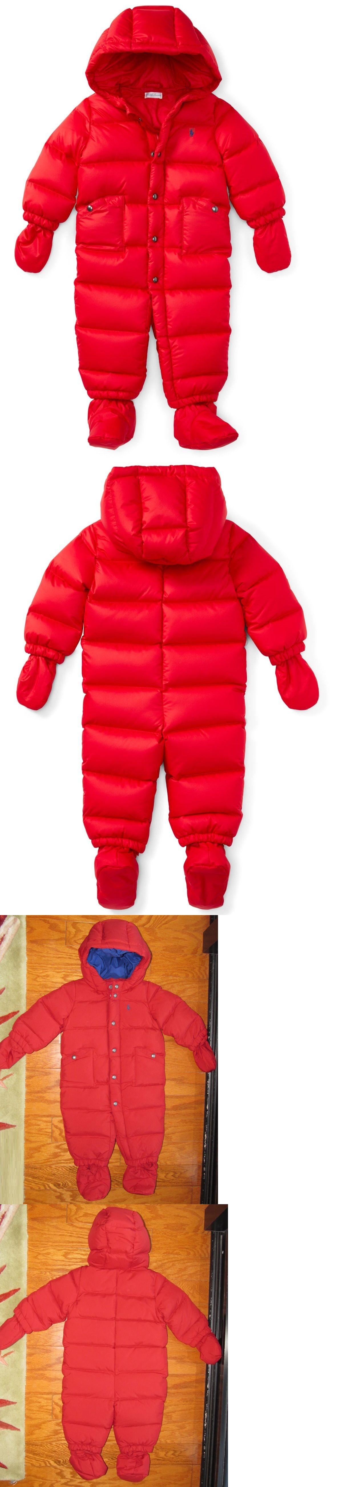 e38af502efa8 Outerwear 147324  New  165 Rl Polo Ralph Lauren Baby Boys Down Quilted  Bunting Snowsuit 6M Red -  BUY IT NOW ONLY   69.99 on eBay!