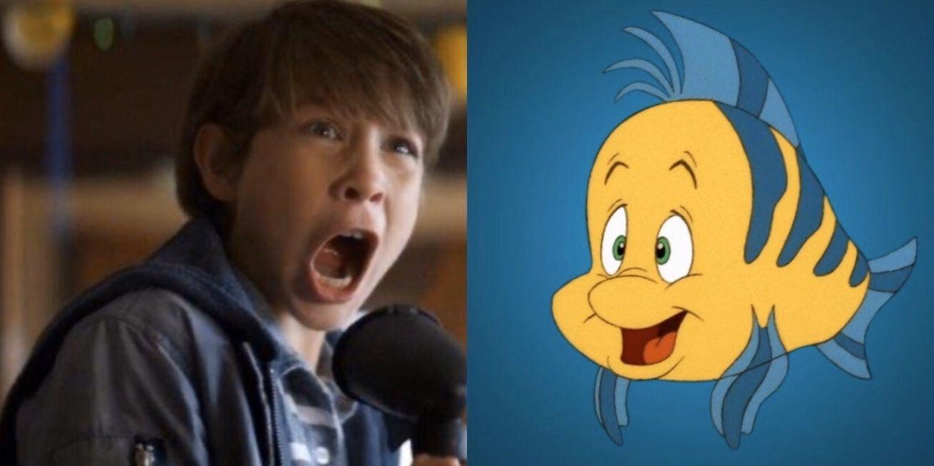Jacob Tremblay as Flounder | The little mermaid, Mermaid, Disney