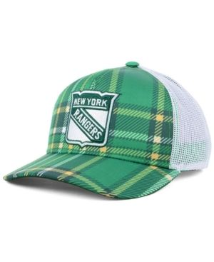 best service 49ef6 68607 adidas New York Rangers St. Patrick s Day Adjustable Cap - Green White  Adjustable