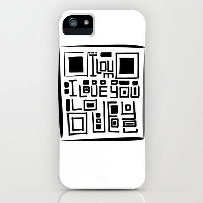 I love you code iPhone & iPod Case by Escrevendo e Semeando - $35.00