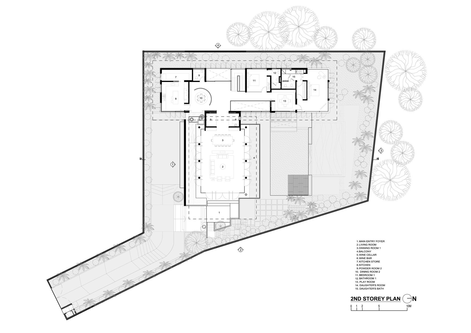 Gallery Of 21 Jervois Hill Ar43 Architects 14 Floor Plans Luxury House Plans Architect