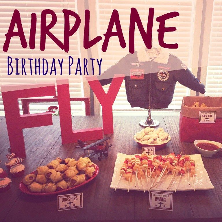 The cutest airplane birthday party idea ever Includes FREE