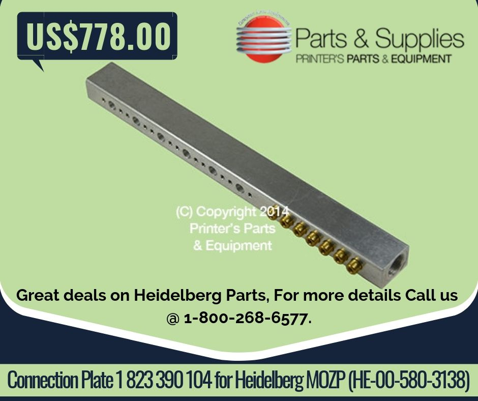Connection Plate 1 823 390 104 for Heidelberg MOZP (HE-00