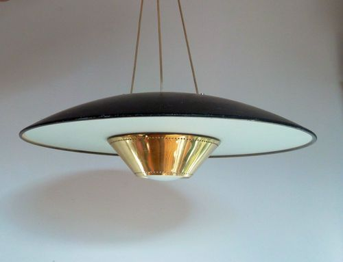 1950s Atomic Era Ceiling Light Fog Morup Style