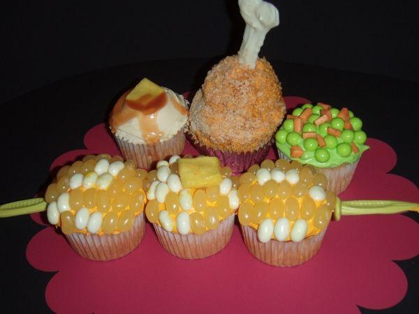 """food"" cupcakes"