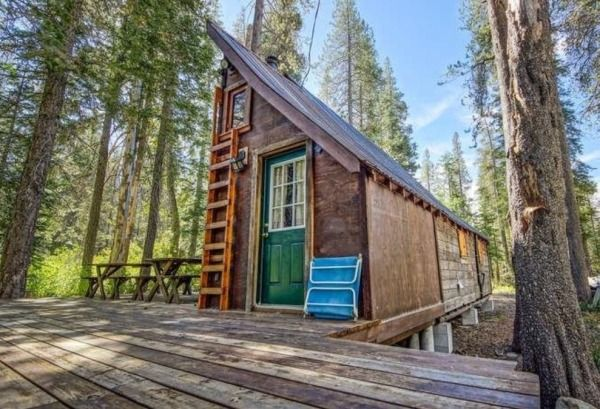 riverfront tiny cabin in california woods for sale tiny cabins rh pinterest com california cabin for sale california cabin for sale