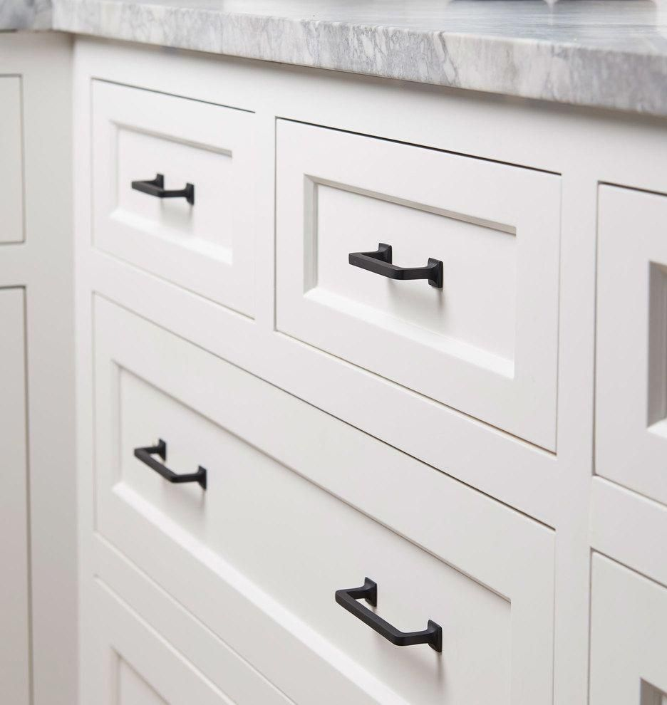 """Ikea Kitchen Cabinet Refacing: Mission Drawer Pull 4"""""""