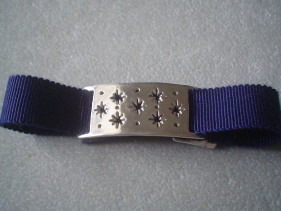 Sterling Silver Stars Ribbon Bracelet or Choker by tiachia on Etsy, $60.00