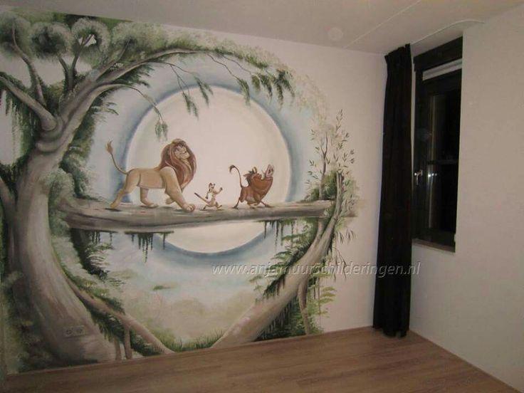 Muurschildering lion king google zoeken baby stuff for Disney zimmer deko