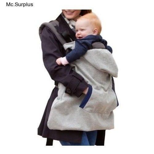 2111223ac61 Baby Fleece All Season Warm Wrap Carrier Cover Sling Infant Gray Blanket  Jacket