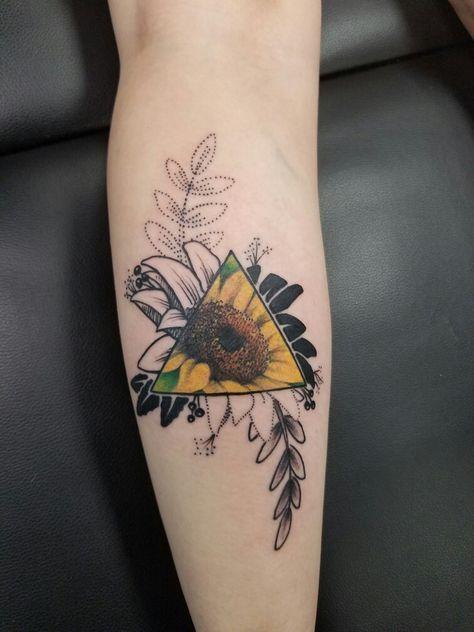 Sunflower Tattoo Tattoos Pinterest Tatouage Tatouage Fleur