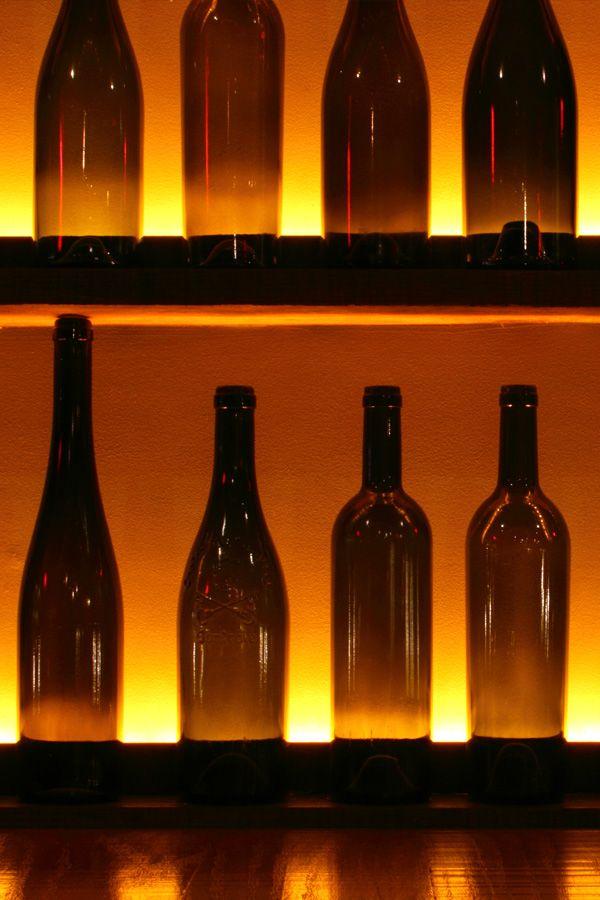wine bottle wall / Dickson Wine Bar / edit / 2010