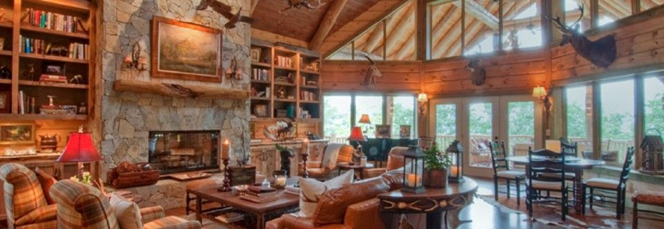 Log Cabin Interior Design  beautiful home interiors Homes Lodges