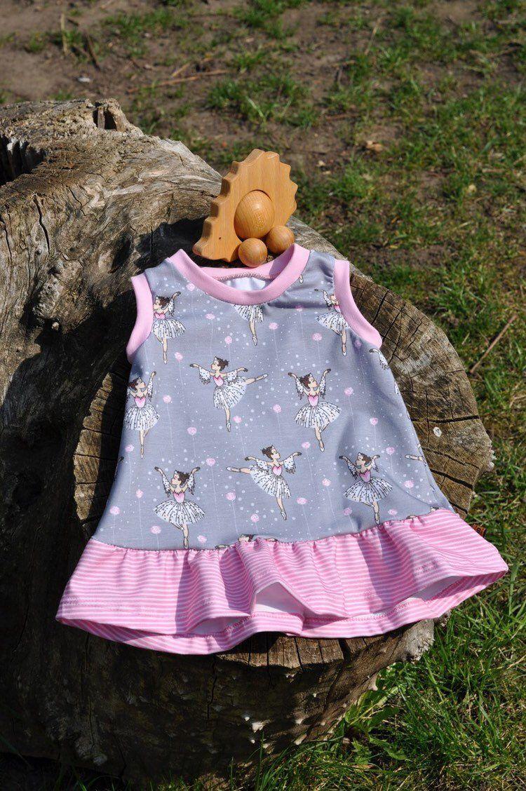 Kleid Baby / Kleinkind Gr. 56-128, Trägerkleid mit Rüsche ...